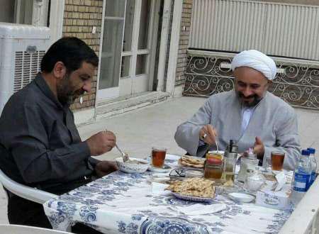 میز صبحانه ضرغامی و حجت السلام نقویان+ عکس