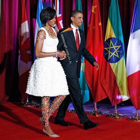 طراحی لباس برای میشل اوباما