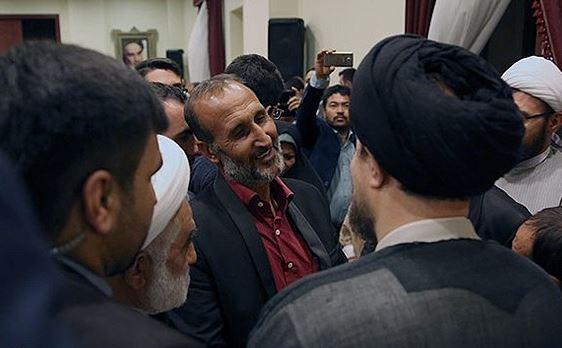دیدار پدر ستایش قریشی با یادگار امام