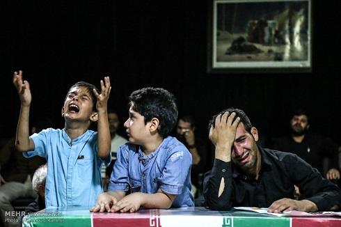 تصاویر وداع تلخ با دو شهید مدافع حرم