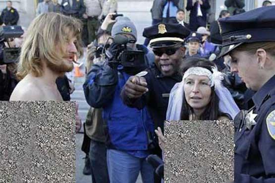 عروس و داماد برهنه دستگیر شدند