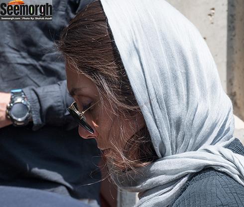 هدیه تهرانی در مراسم تشییع پیکر عباس کیارستمی