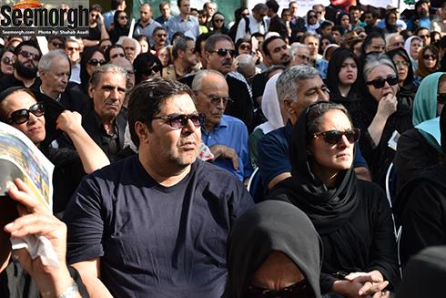 حضور فرهاد اصلانی در مراسم عباس کیارستمی