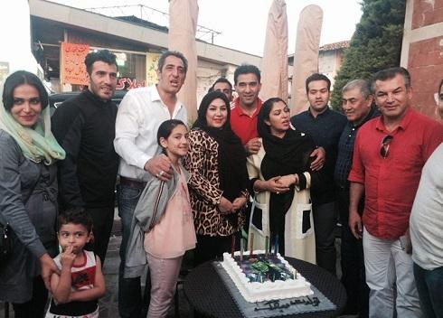 تولد 50 سالگی عابدزاده در کنار همسرش