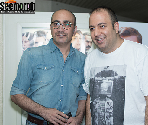 علی اوجی در کنار عارف لرستانی