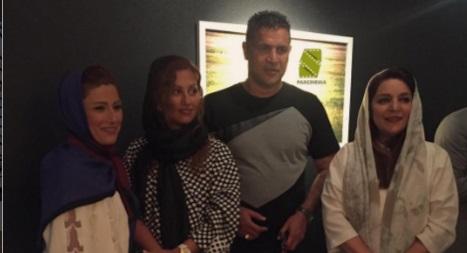 عکس علی دایی و همسرش در نمایشگاه تهمینه میلانی