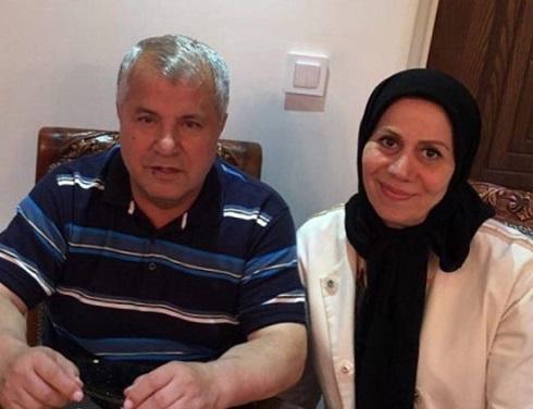 عکس علی پروین در کنار همسرش