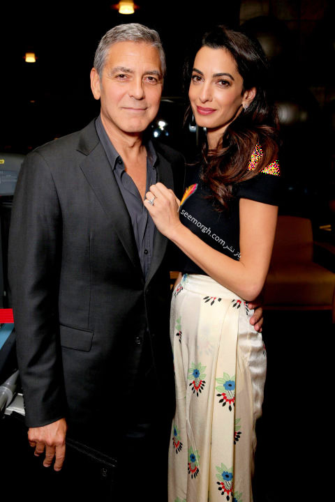 مدل لباس امل کلونی Amal Cloony در هفته مد نیویورک