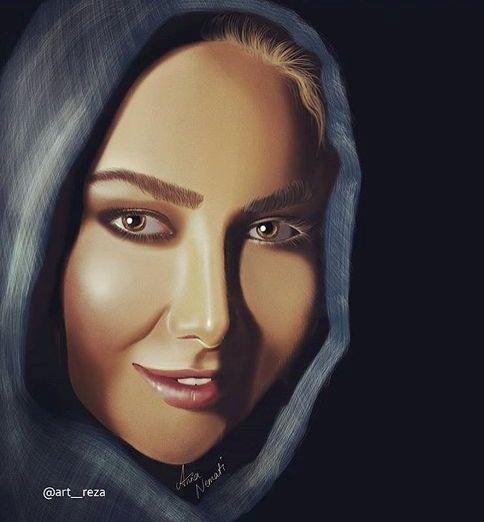 نقاشی از صورت آنا نعمتی