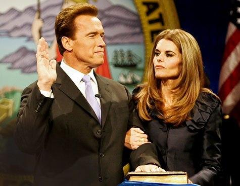 آرنولد شوارتزنگر و ماریا شریور