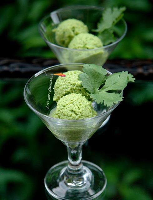 بستنی رژیمی آووکادوو و نعنا