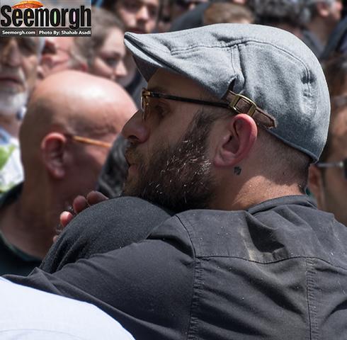 گریه های مینا ساداتی و واکنش بابک حمیدیان