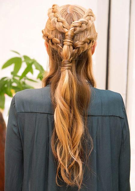 مدل بافت مو به سبک سریال تاج و تخت