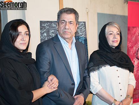 جهانگیر کوثری در کنار همسرش و دخترش