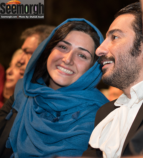 نوید محمدزاده و چهره خندان باران کوثری در جشن خانه سینما