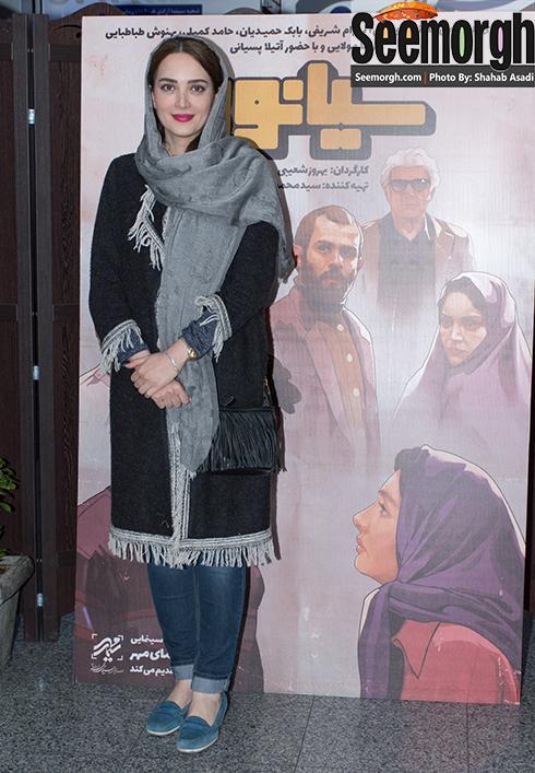 بهنوش طباطبایی در اکران فیلم سیانور در سینما آزادی
