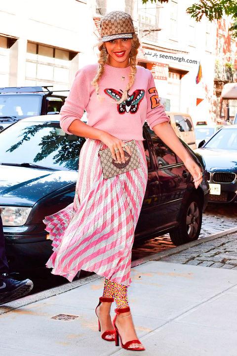 مدل لباس بیانسه Beyonce در هفته مد نیویورک