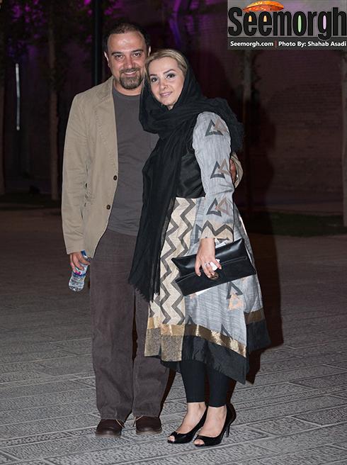 برزو ارجمند و همسرش در جشن خانه سینما 95