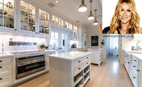 دکوراسیون آشپزخانه سلن دیون Celine Dion