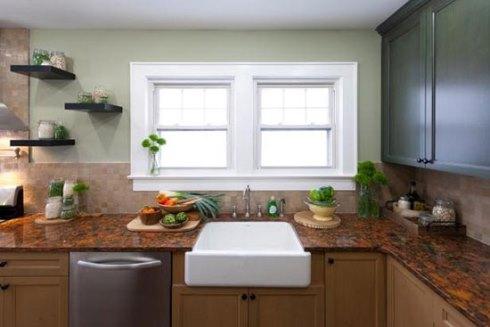 استفاده از رنگ سبز روشن در دکوراسیون داخلی آشپزخانه