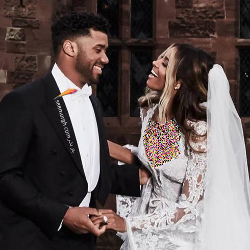 مراسم عروسی سیارا Ciara و راسل ویلسون Russell Wilson - عکس شماره 5