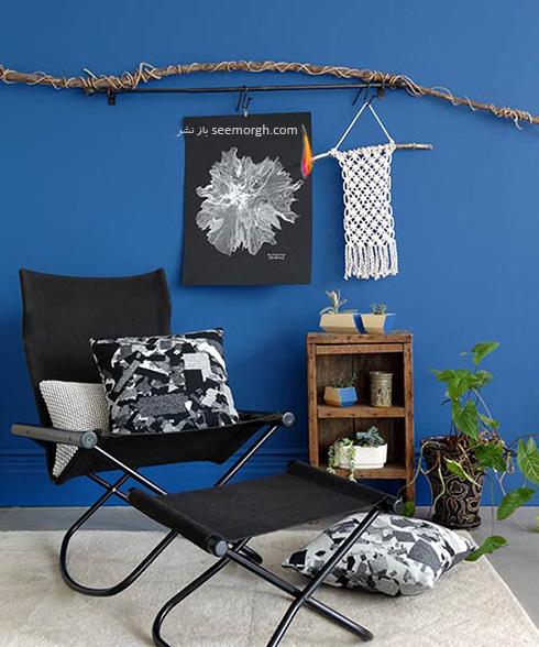 سیاه و آبی و سفید، بهترین ترکیب رنگی برای دکوراسیون