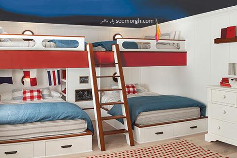 سقف های آبی رنگ، برای یک اتاق کاملا دریایی