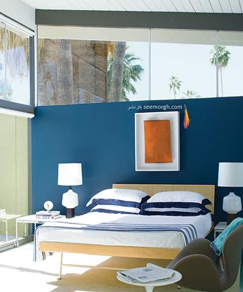 اتاق خواب آبی روشن و کمی دنجی