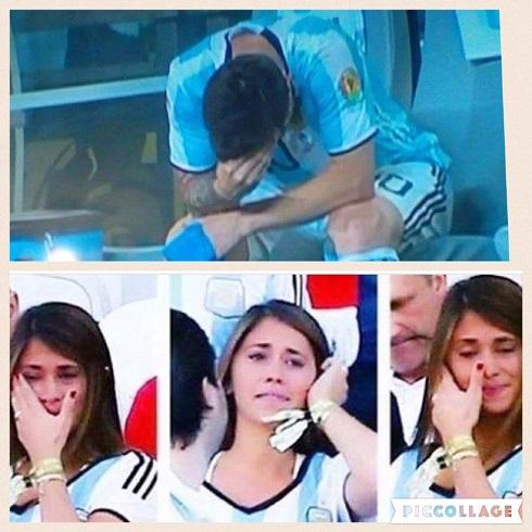 عکس اشک های مسی و همسرش