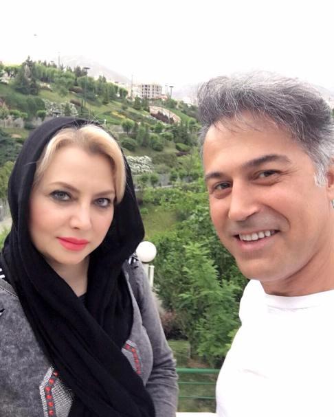 دانیال حکیمی در کنار همسرش