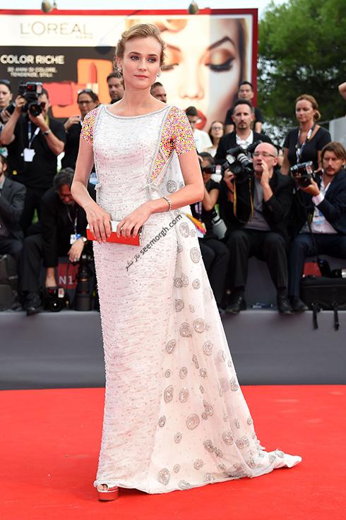 مدل لباس دیانه کروگر Diane Kruger در جشنواره فیلم ونیز 2016