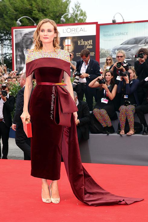 مدل لباس دوم دیانه کروگر Diane Kruger در جشنواره فیلم ونیز 2016