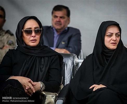 الهام حمیدی در تشییع پیکر همسر شهید بابایی
