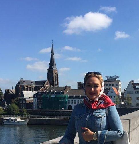 عکس جدید الهام حمیدی در هلند
