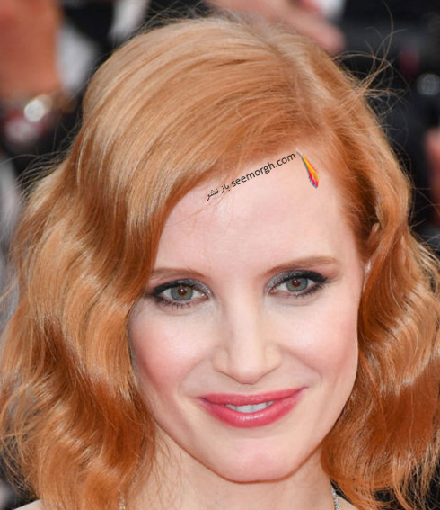 آرایش جسیکا چستین Jessica Chastain در جشنواره کن 2016 Cannes