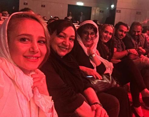 الناز حبیبی در کنار مریم سعادت در کنسرت میثم ابراهیمی