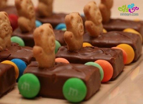 تزیین شکلات برای جشن تولد بچه ها