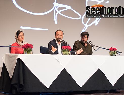 اصغر فرهادی درحال صحبت درباره فیلم فروشنده