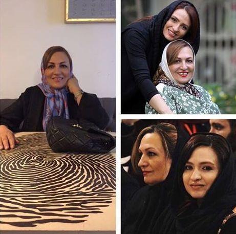 گلاره عباسی در کنار مادرش