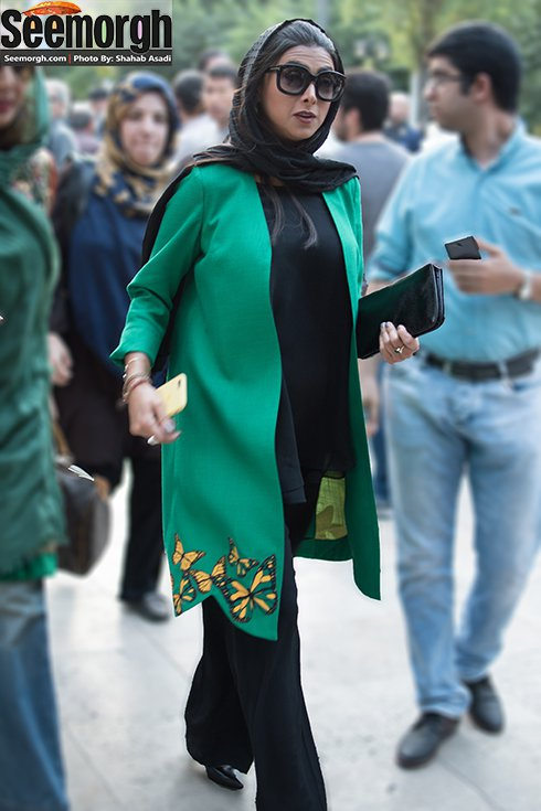 مدل لباس آزاده صمدی در جشن حافظ
