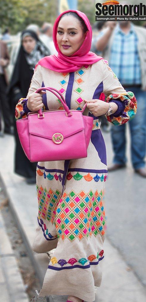 مدل لباس الهام حمیدی در جشن حافظ