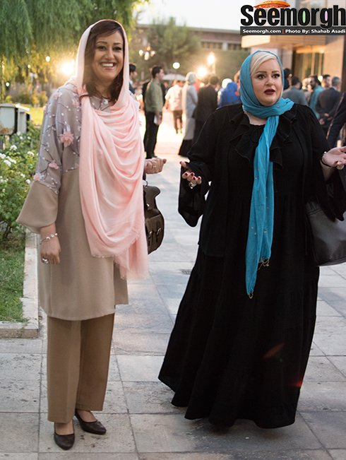 مدل لباس نعیمه نظام دوست و فاطمه هاشمی در جشن حافظ