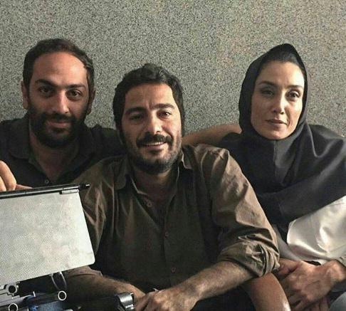 گریم هدیه تهرانی و نوید محمدزاده در فیلم بدون تاریخ بدون امضا
