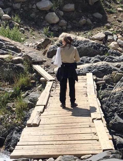 تیپ هدیه تهرانی درحال کوهنوری
