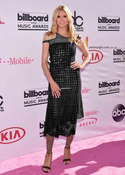 heidi klum copy مدل لباس ستارگان هالیوودی در مراسم جوایز بیلبورد