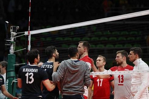 درگیری بازیکنان والیبال ایران و لهستان