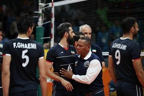 عکس درگیری بازیکنان والیبال ایران و لهستان