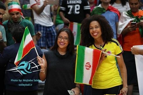 عکس تماشاگران ایرانی در المپیک 2016