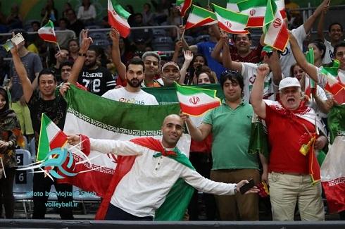 تصاویر تماشاگران ایرانی در المپیک 2016