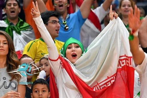 تماشاگران ایرانی والیبال در المپیک 2016